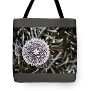 Mushroom With Ice Crystals Tote Bag