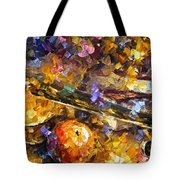 Music And Wine - Palette Knife Oil Painting On Canvas By Leonid Afremov Tote Bag
