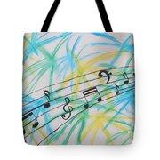 Music Burst Tote Bag