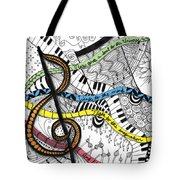 Music Gives Life Tote Bag