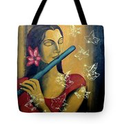 Music In Silence Tote Bag