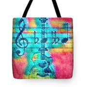 Music Is Everything In Colors Tote Bag