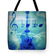 Music Is Everything Lightning Tote Bag