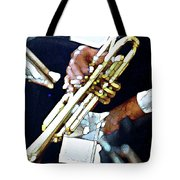 Music Man Trumpet Tote Bag