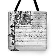 Music Manuscript, 1450 Tote Bag