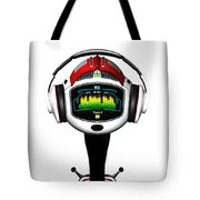 Music Roboto Tote Bag