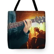 Music Soothes The Soul - Painting1 Tote Bag by Ericamaxine Price
