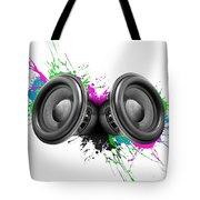 Music Speakers Colorful Design Tote Bag