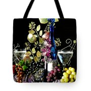 Music With Wine Tote Bag