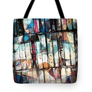 Musical Cassette Tapes Collage Tote Bag