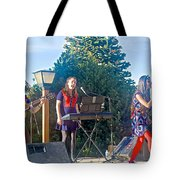 Musical Entertainers In Central Park In Bariloche-argentina Tote Bag