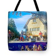 Musical Entertainment In Central Park In Bariloche-argentina Tote Bag