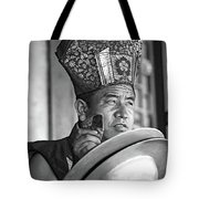 Musical Monk Bw Tote Bag