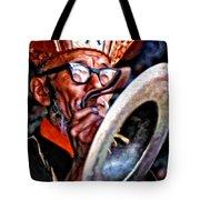 Musical Monk Watercolor Tote Bag