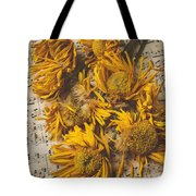 Musical Sunflowers Tote Bag