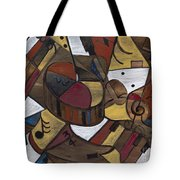 Musicality In Brown Tote Bag