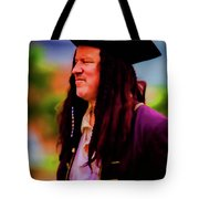 Musician In Pirate Hat And Dreadlocks - In Watercolor Photo Tote Bag