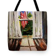 Musing-glory Through The Window Tote Bag