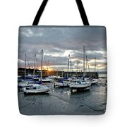 Musselburgh Marina In The Sunset. Tote Bag