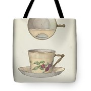Mustache Cup And Saucer Tote Bag