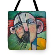 Mustached Man In Wind Tote Bag