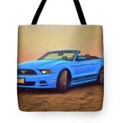 Mustang Ocean Shores Beach Tote Bag
