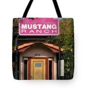 Mustang Ranch Entrance Tote Bag