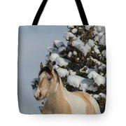 Mustang Winter Tote Bag