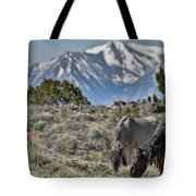 Mustangs In The Sierra Nevada Mountains Tote Bag