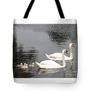 Mute Swan Family Day Two Tote Bag