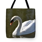Mute Swan On Rolleston Pond Tote Bag