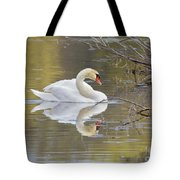 Mute Swan Reflection I Tote Bag