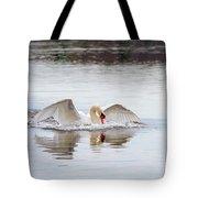 Mute Swan Swim Tote Bag