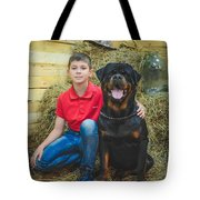 My Brother And The Dog 2 Tote Bag