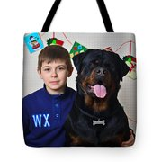 My Brother And The Dog Tote Bag