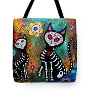 My Cats Dia De  Los Muertos Tote Bag