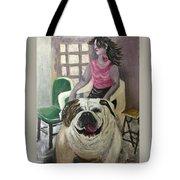 My Dog, My Friend Tote Bag by Mimi Eskenazi