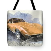 Orange Dream Car Tote Bag