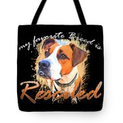 My Favorite Breed Is Rescued Watercolor 5 Tote Bag