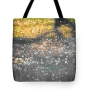 My First Manipulated Image Crowd Of Dandelions In Shadow Of Tree Branches Tote Bag