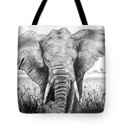 My Friend The Elephant II Tote Bag