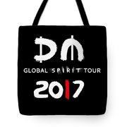 My Global Spirit Tour 2017 - White Tote Bag