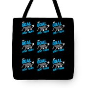 My Goal Is To Deny Yours Goalie Pattern Tote Bag