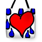 My Heart Is Crying Tote Bag