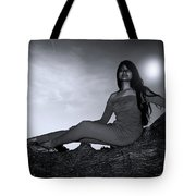 My Light Goes  Tote Bag