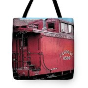 My Little Red Caboose Tote Bag