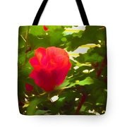My Love Is Like  A Red Red Rose Of Sharon Tote Bag