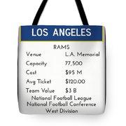 My Nfl Los Angeles Rams Monopoly Card Tote Bag