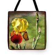 My Painted Iris Tote Bag