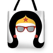 My Red Glasses Tote Bag